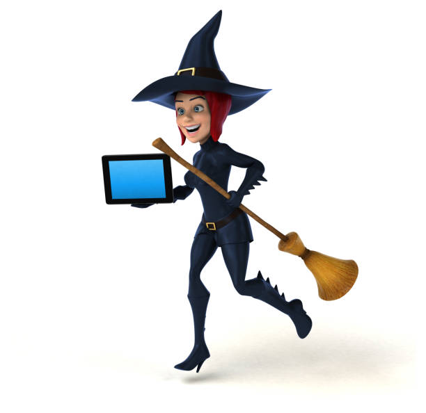 sexy witch 3d illustration stock photo