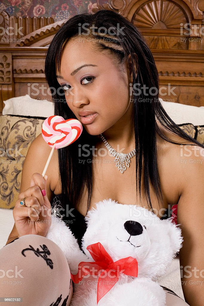 Sexy With Sweets royalty-free stock photo