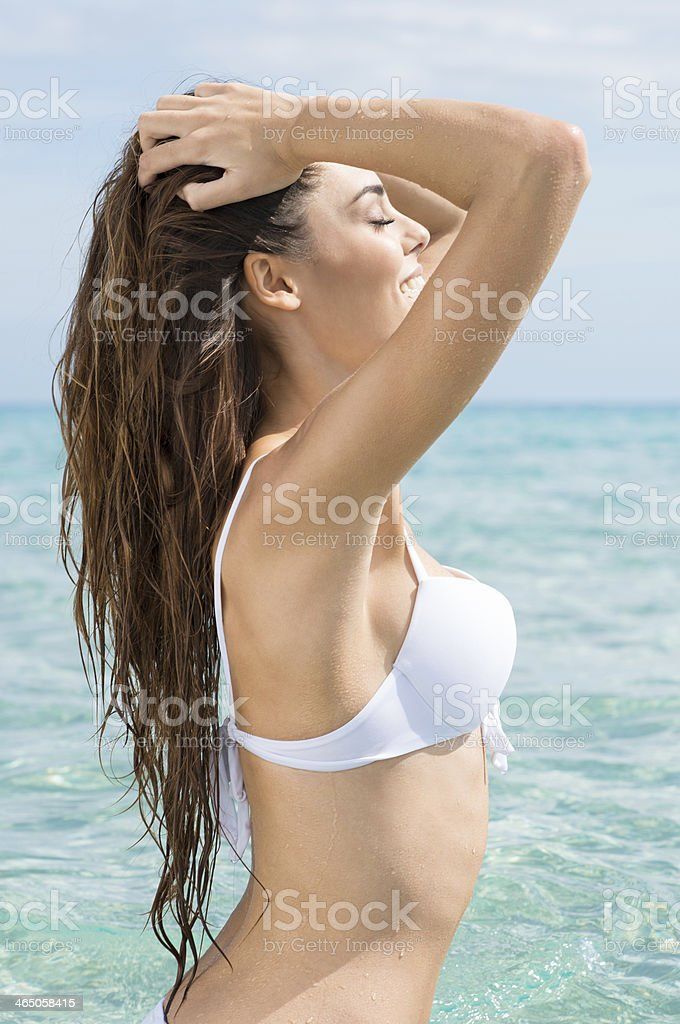 Sexy Woman At The Sea stock photo