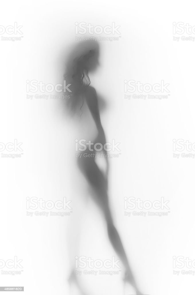 Sexy woman body silhouette stock photo
