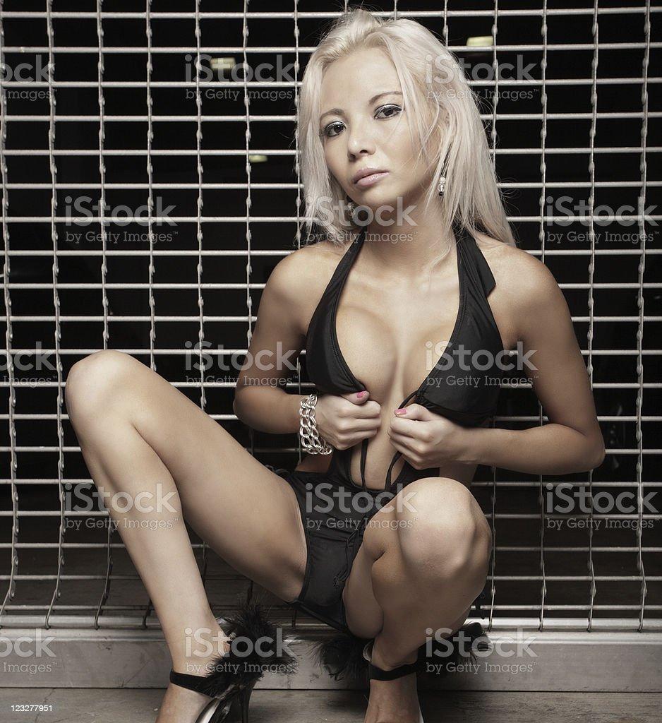 Sexy woman in a bikini stock photo
