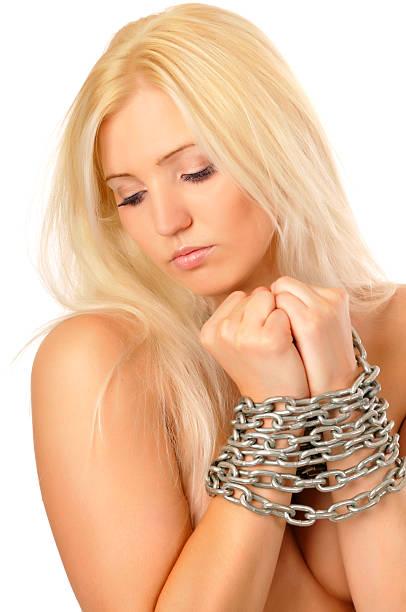 Cтоковое фото Сексуальная женщина в Наручники