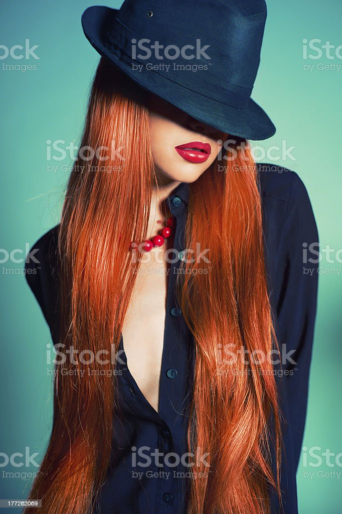 Sexy woman in Hat royalty-free stock photo