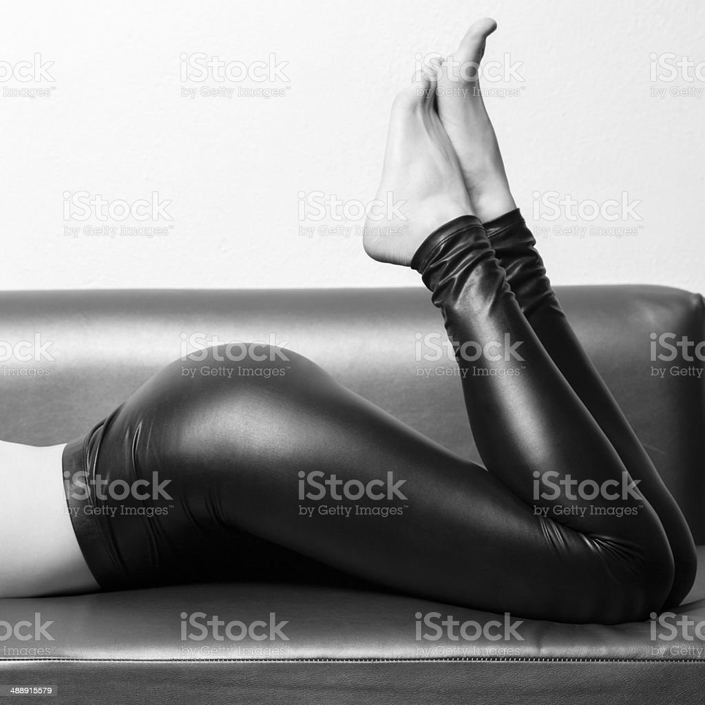 sexy woman in leggins - stock photos stock photo