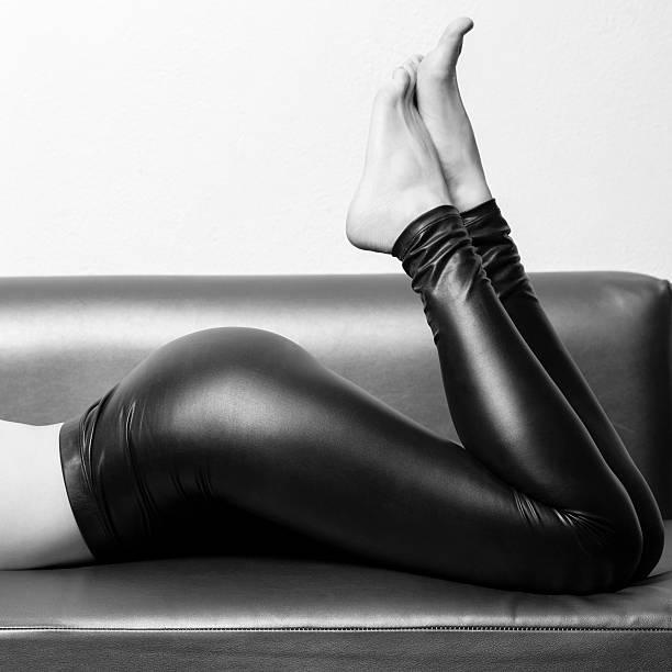 sexy woman in leggins - stock photos stock photo