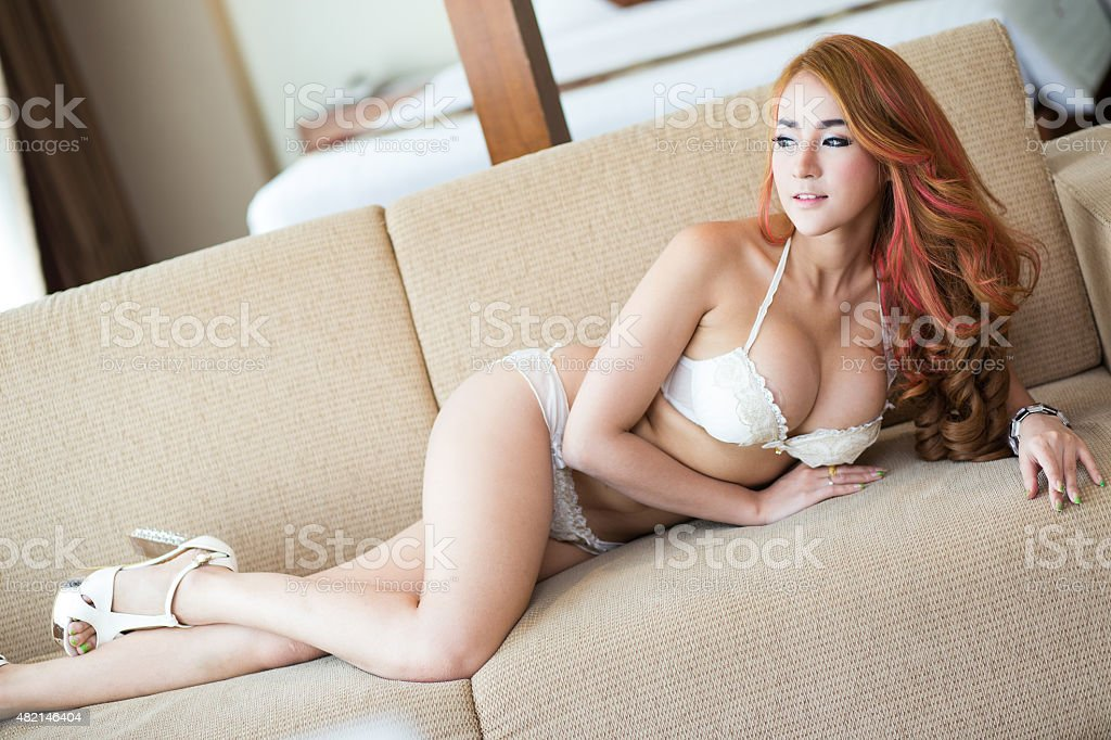 Sexy woman in lingerie stock photo