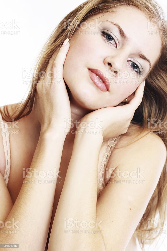 Sexy woman in lingerie royalty-free stock photo