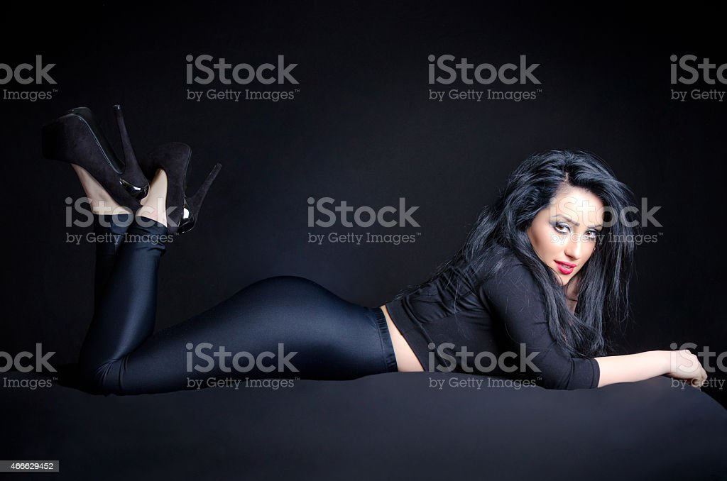 Sexy Woman In Provocative Pose stock photo
