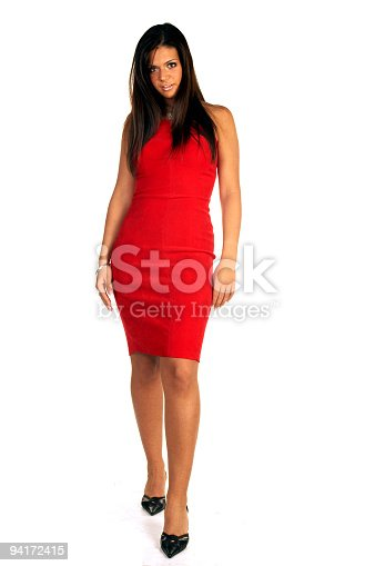 istock Sexy woman In Red 94172415