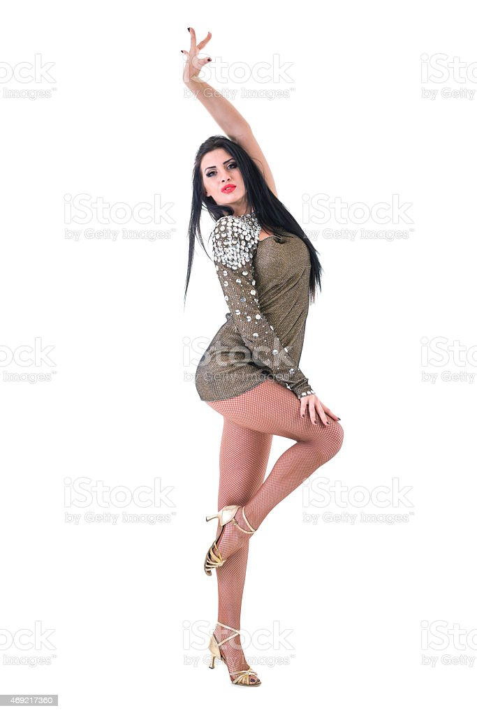 sexy woman in short dress stock photo