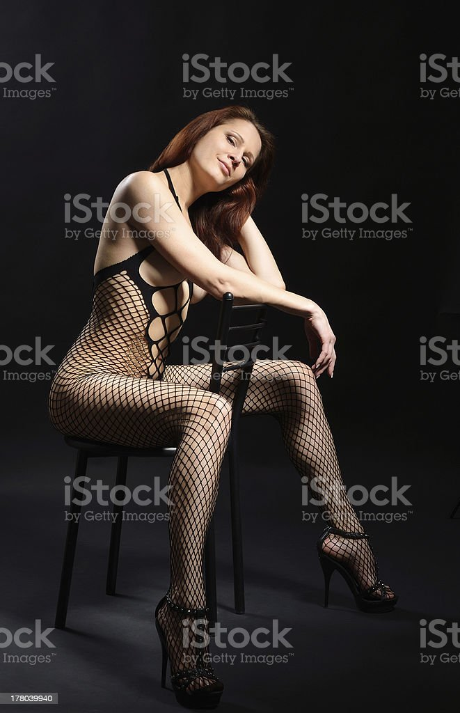 Sexy woman in the erotic lingerie stock photo