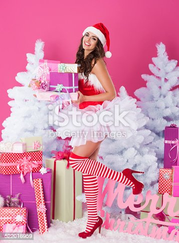 istock Sexy woman is ready for christmas 522016959