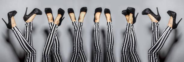 sexy frau-beine - vogue muster stock-fotos und bilder