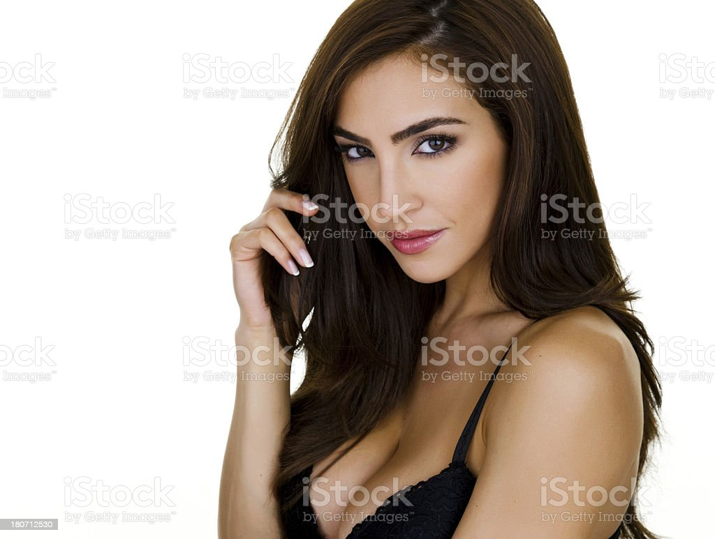 Sexy woman looking at the viewer royalty-free stock photo