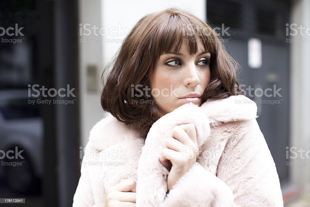 Sexy woman looking away stock photo