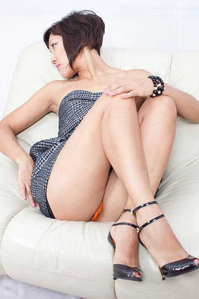 Sexy Frau: mini dress – Foto