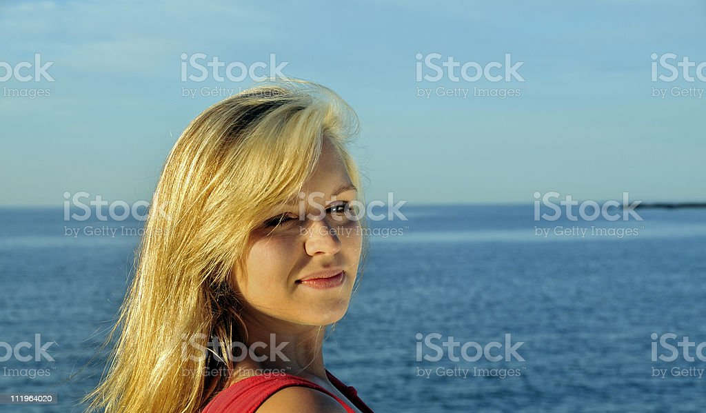 Sexy Woman on a Beautiful Morning royalty-free stock photo