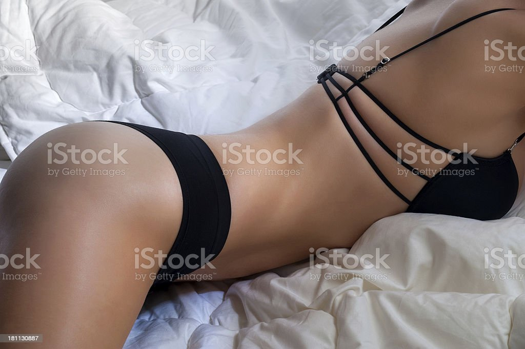 sexy woman posing in lingerie royalty-free stock photo
