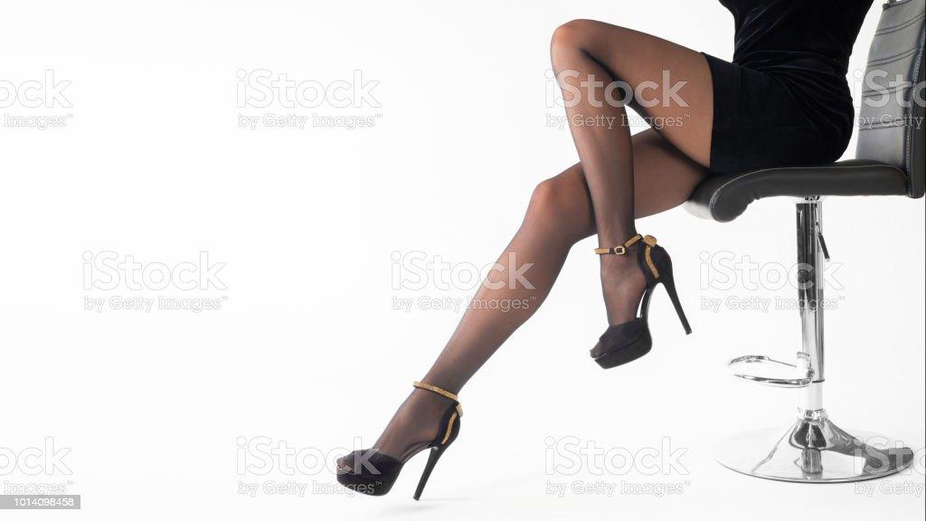 chaussures de séparation 0b854 36a4c Photo libre de droit de Sexy Femme Portant Des Chaussures De ...