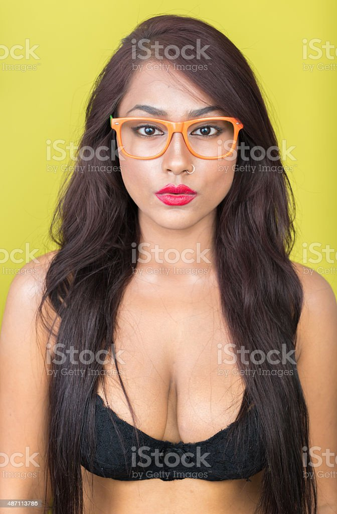 Sexy woman with bra stock photo