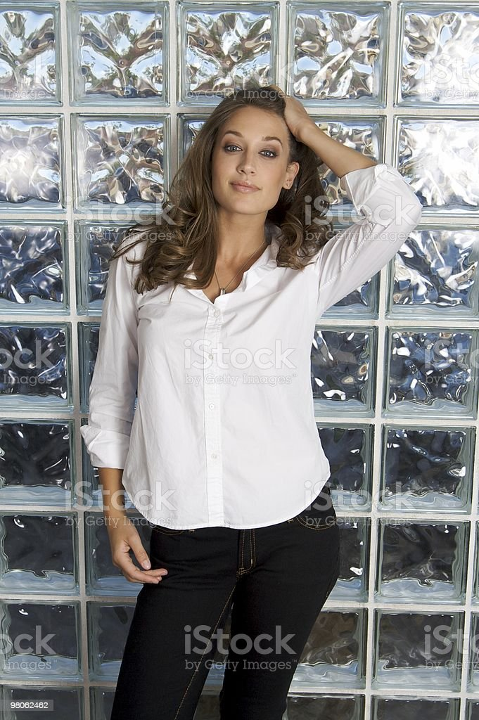 Sexy Woman with Button Down Shirt royalty-free stock photo
