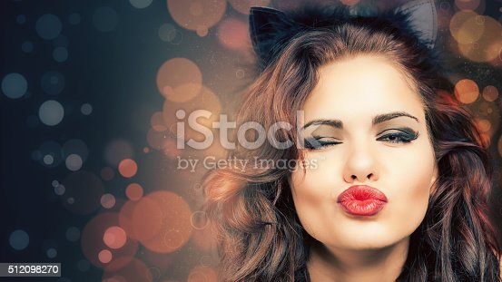 512061362 istock photo Sexy woman with carnival mask at Venetian party 512098270
