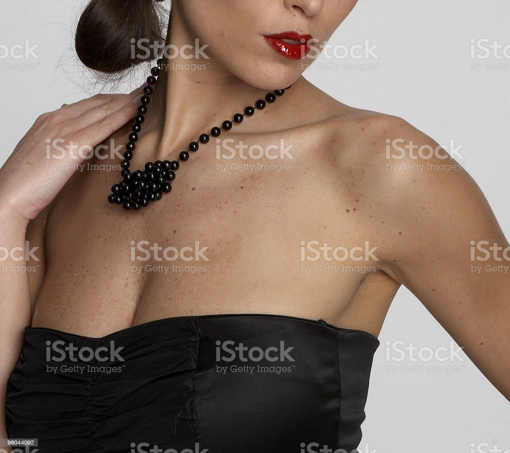 sexy woman's cleavage royalty-free stock photo