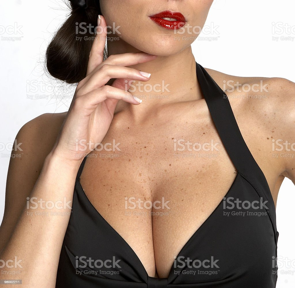 Sexy woman's neckline royalty-free stock photo