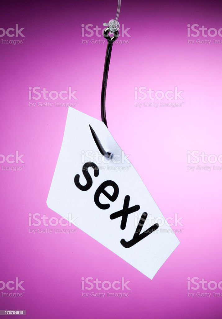 sexy word on hook royalty-free stock photo