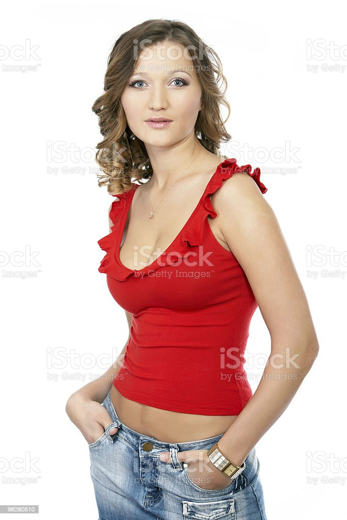 sexy young adult woman posing in a studio royalty-free stock photo