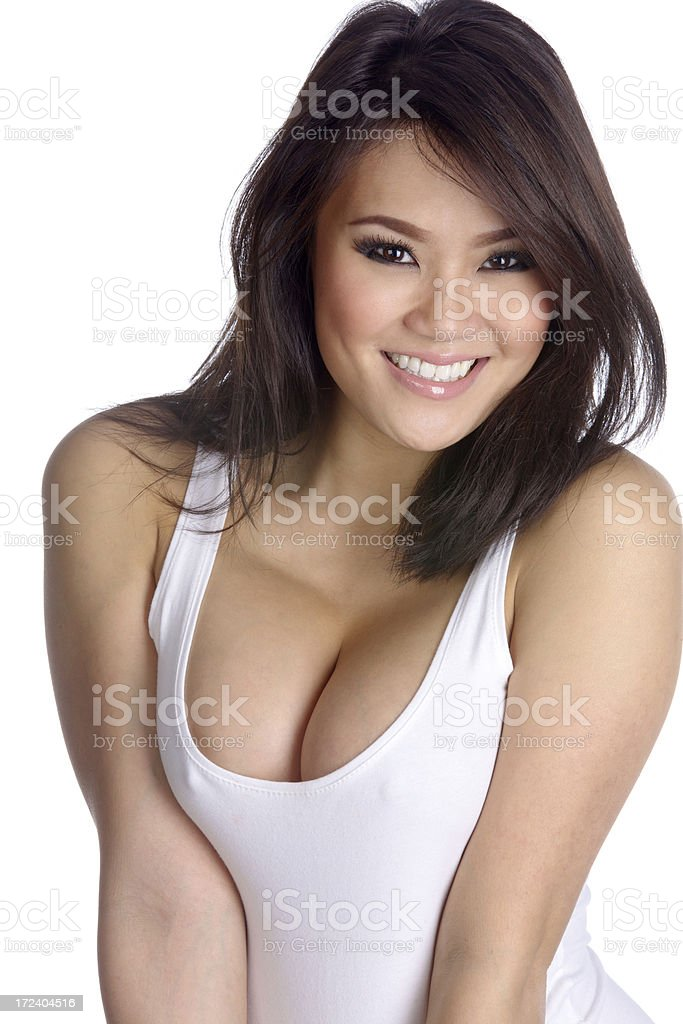 f55940d8804f6 Sexy Young Asian Woman In White Tank Top Stock Photo   More Pictures of  20-24 Years