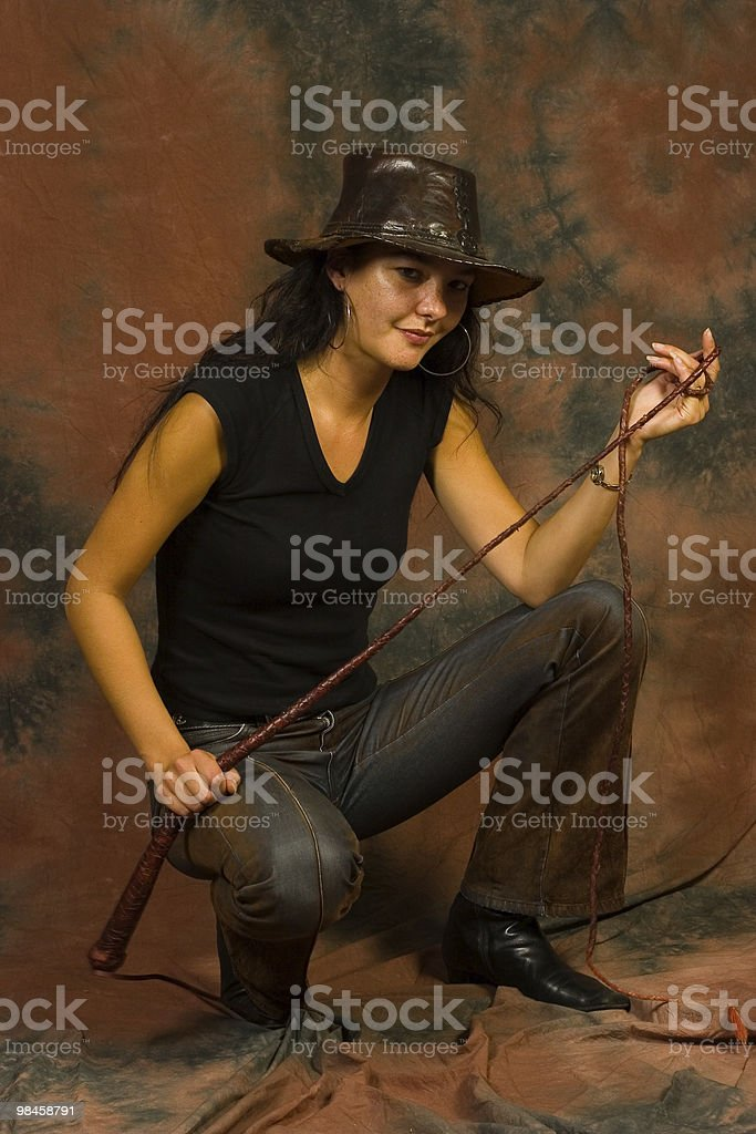 Sexy young cowgirl royalty-free stock photo