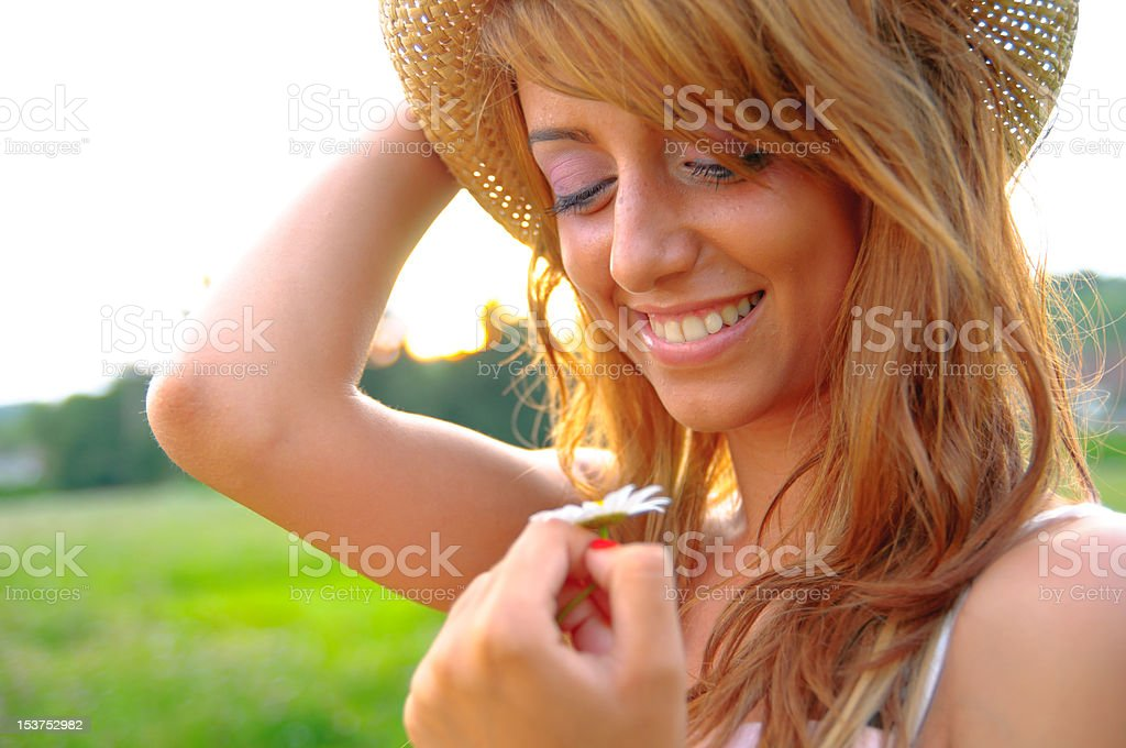 Sexy Young Girl Smiling On Green Background Royalty Free Stock Photo