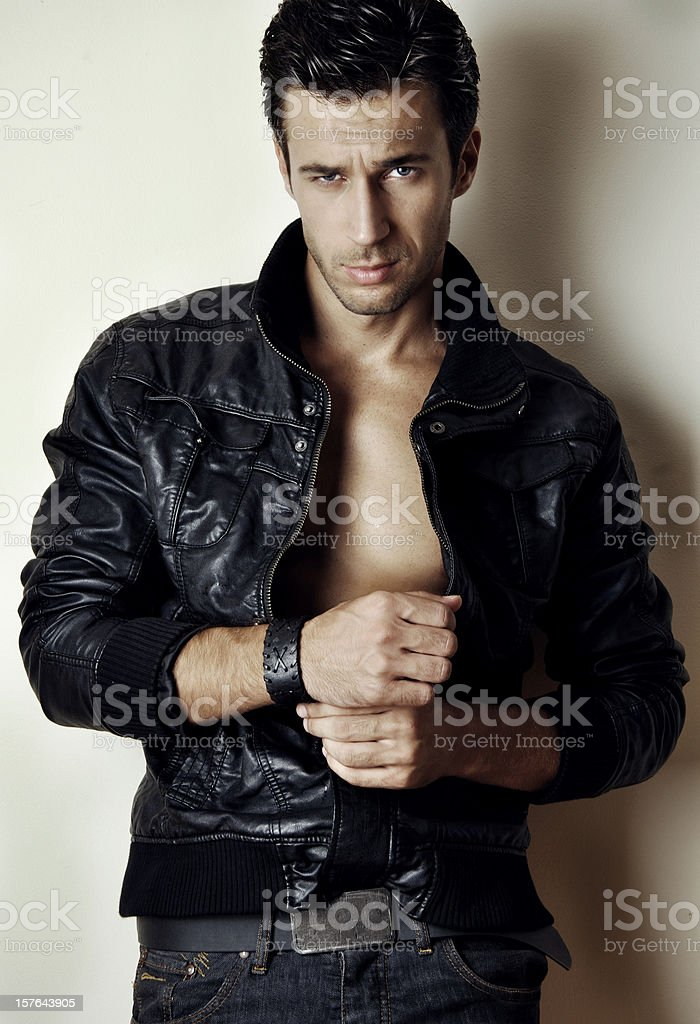 sexy young man stock photo