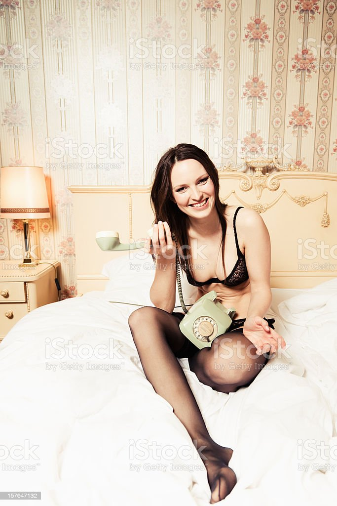 Sexy Young Woman in Lingerie stock photo