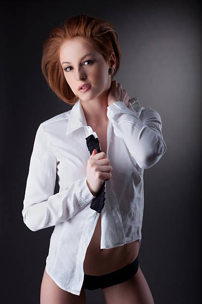 Shirtless Jacket Women Naked Stock Photos, Pictures