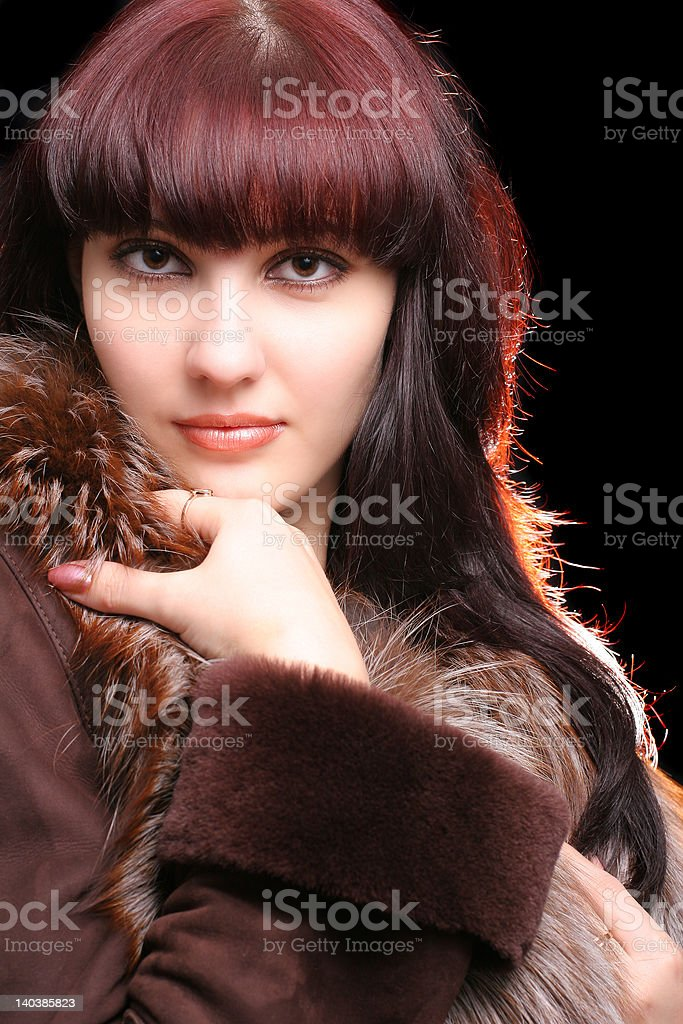 Sexy young woman with moody light royalty-free stock photo