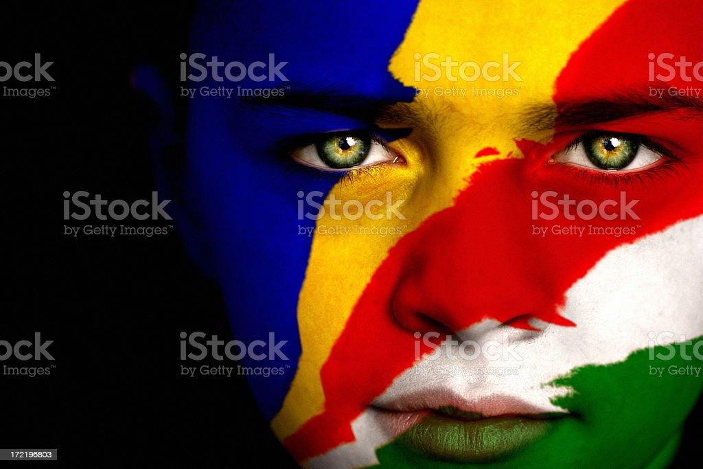 Seychelles boy stock photo
