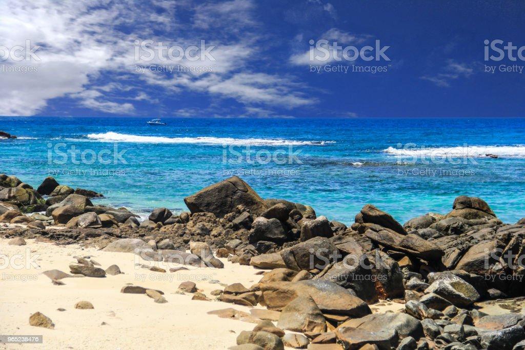 Seychelles Cousin Island beach royalty-free stock photo