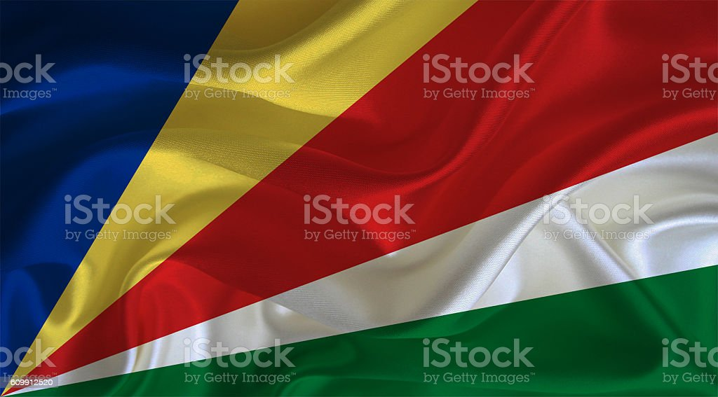 Seychelles flag stock photo