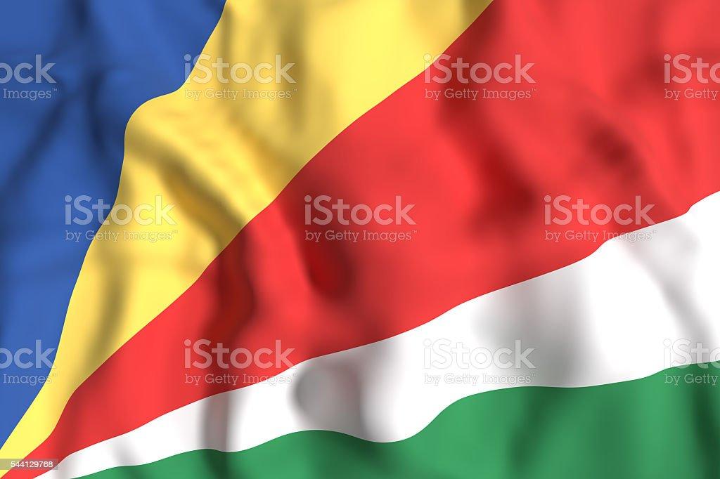 Seychelles flag waving stock photo