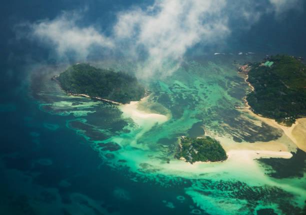 비행기에서 세이셸 - 마헤 섬 뉴스 사진 이미지