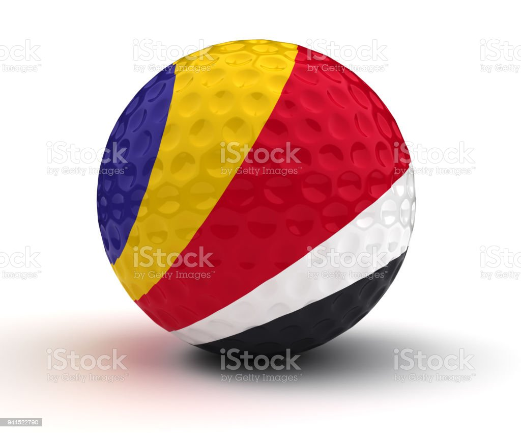Seychelles Golf Ball stock photo