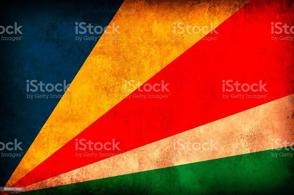 Seychelles Grunge Flag stock photo