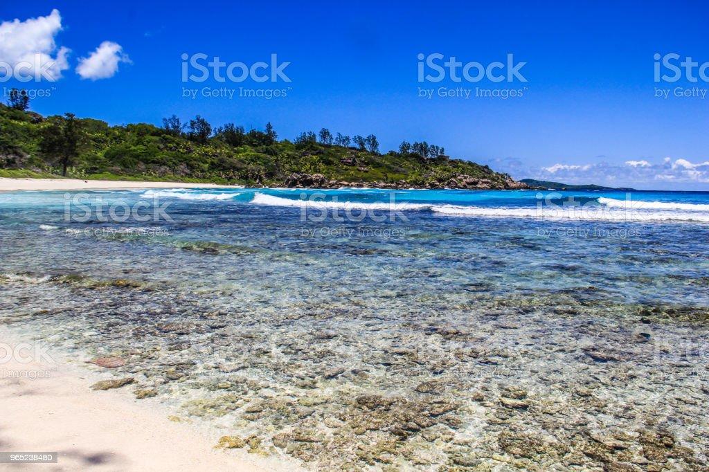 Seychelles La Digue Anse Cocos Beach royalty-free stock photo
