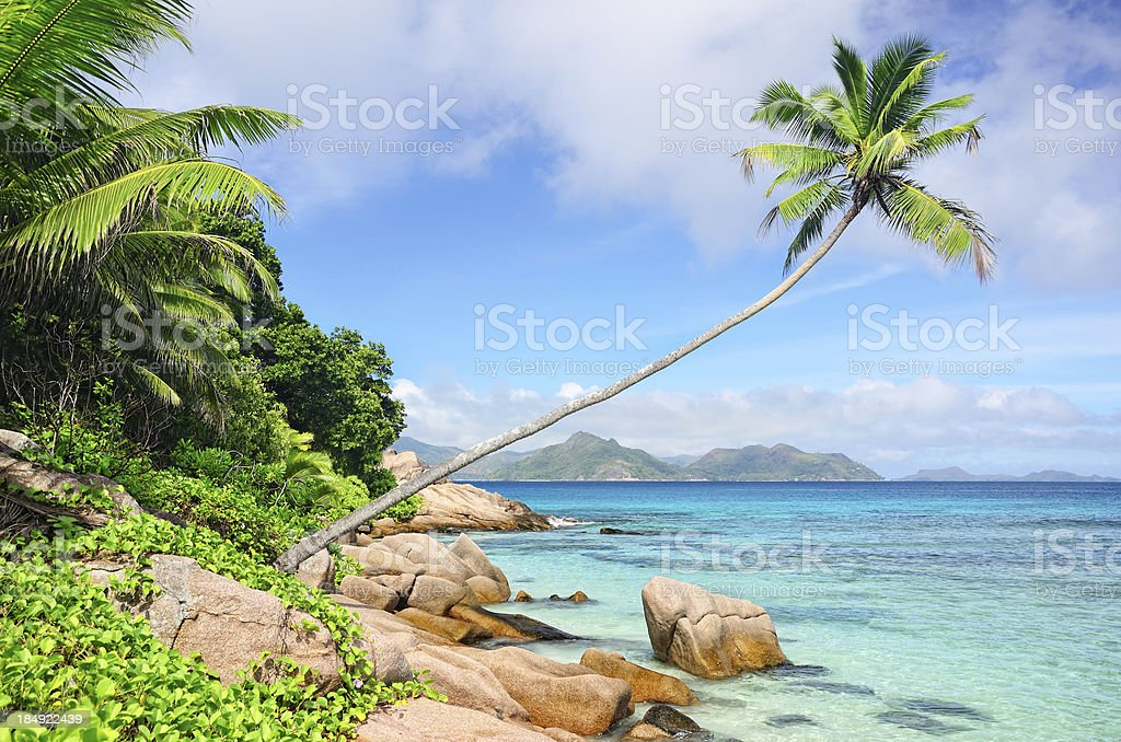 Seychelles seascape royalty-free stock photo
