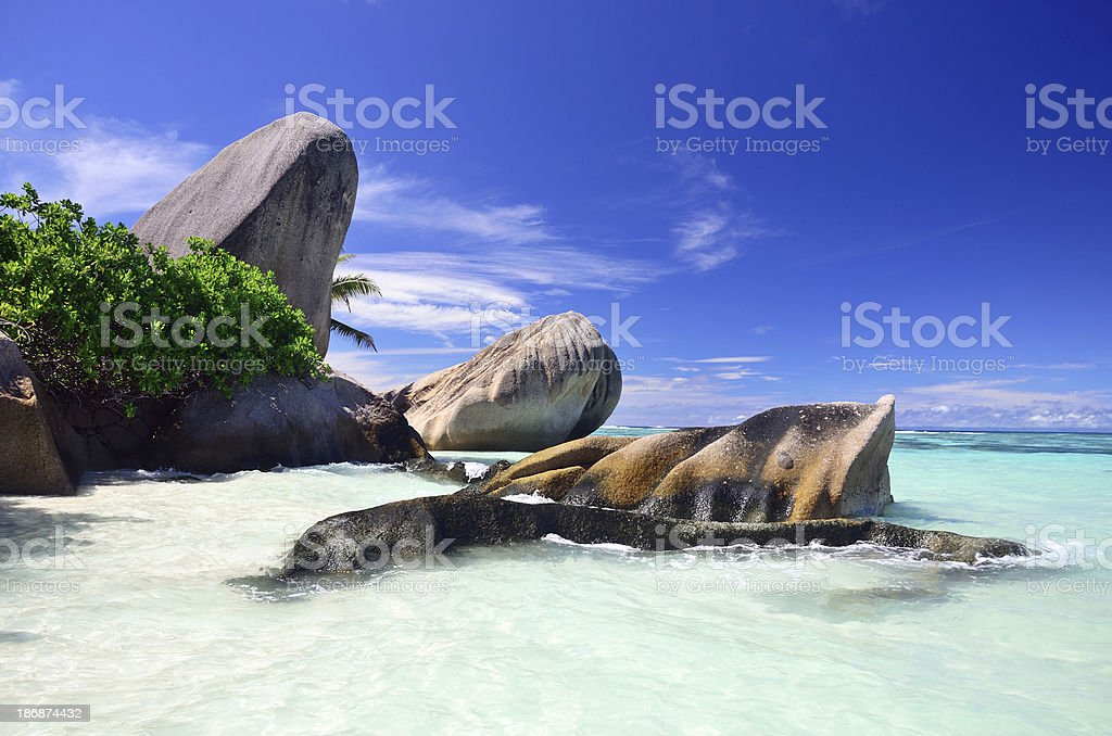 Seychelles seascape royalty-free stock photo