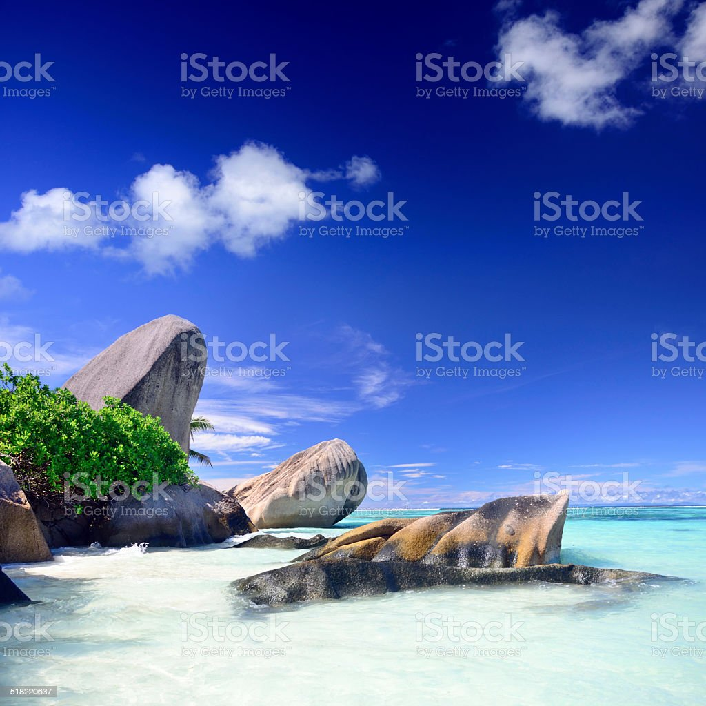 Seychelles seascape stock photo