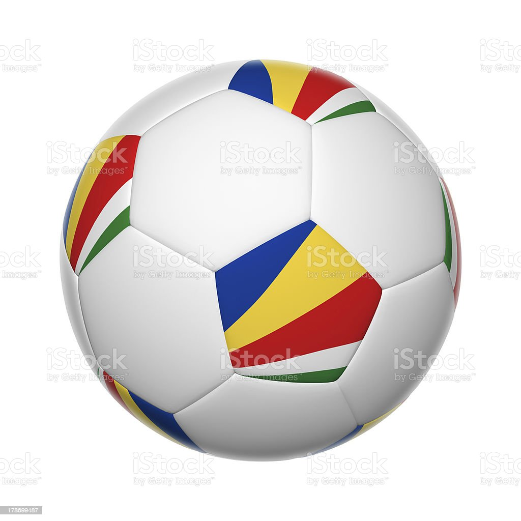 Seychelles soccer ball stock photo