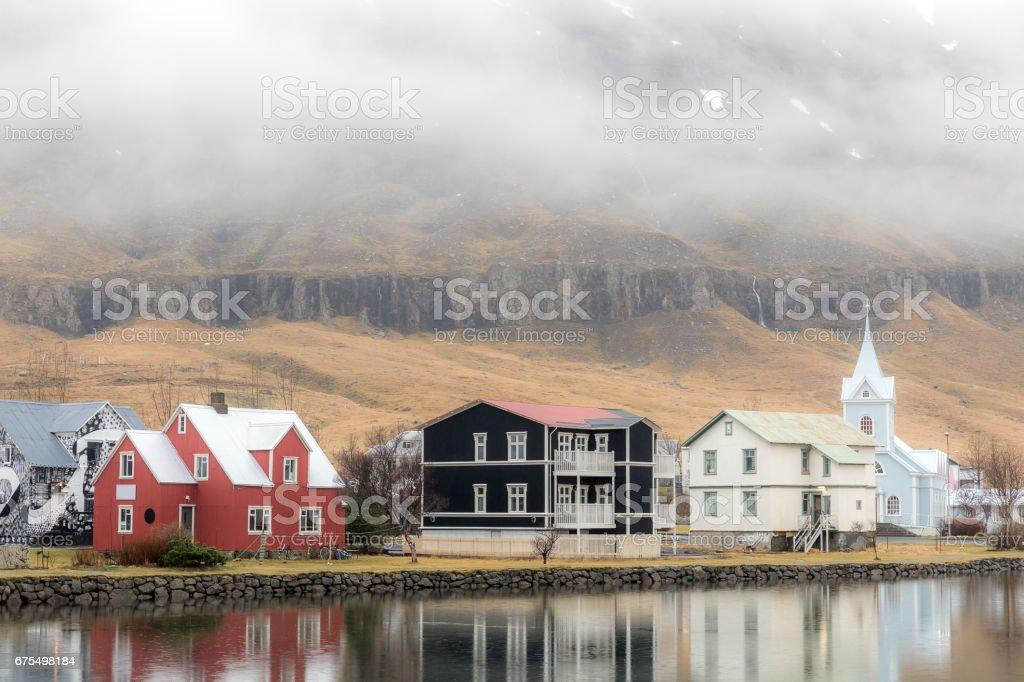 Seydisfjordur cityscape Iceland royalty-free stock photo